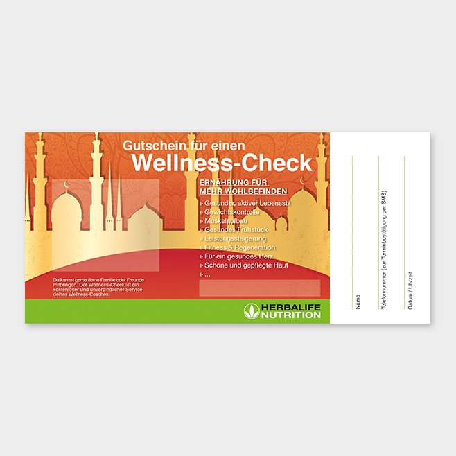 Wellness-Check Gutschein Herbalife Motiv 11