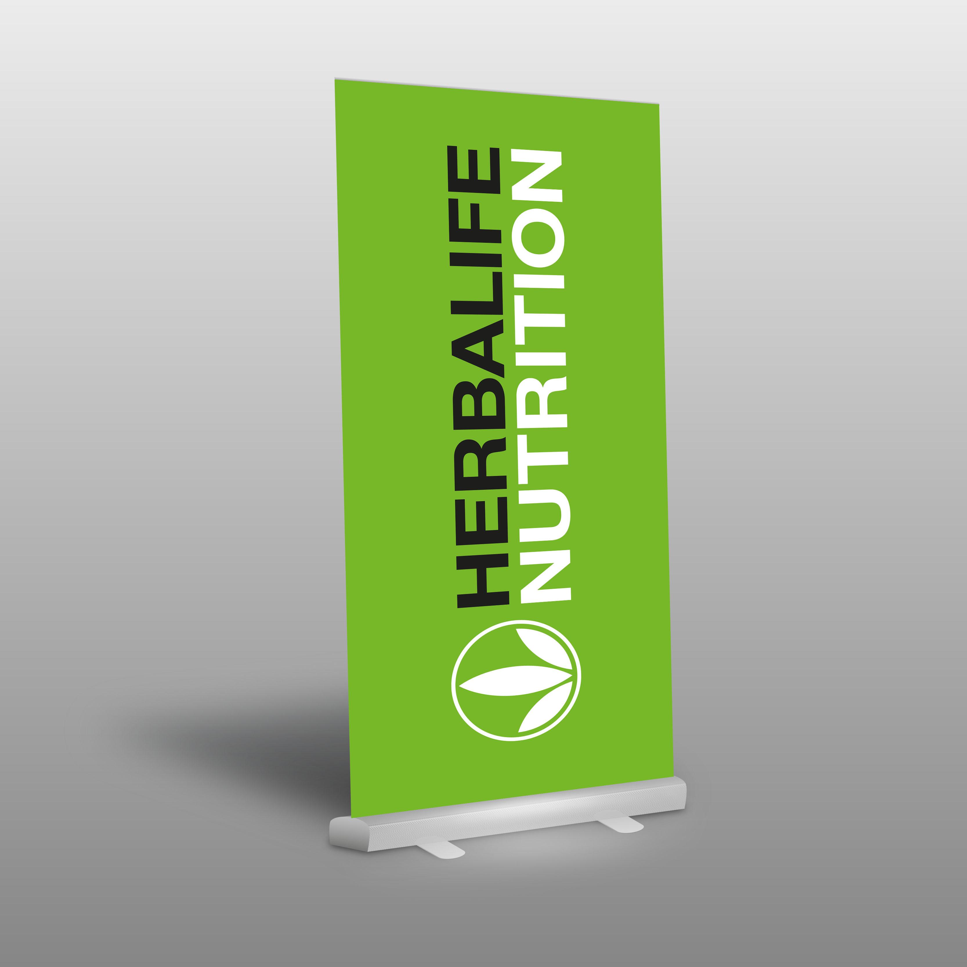 Roll Up Herbalife Nutrition Logo Roll Up Werbemittel