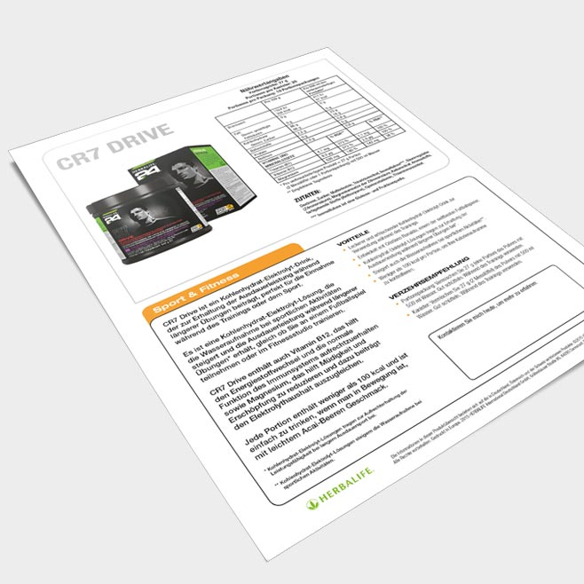CR7 DRIVE Produktinformation Variante 3