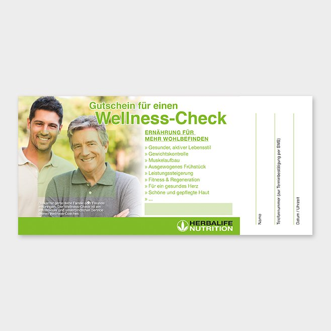 Wellness-Check Gutschein Herbalife Motiv 9