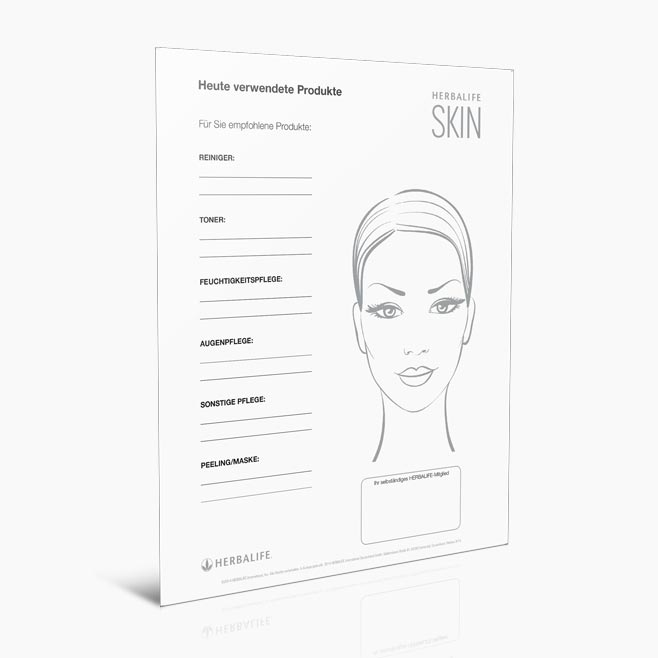 Herbalife SKIN Democard DIN A5