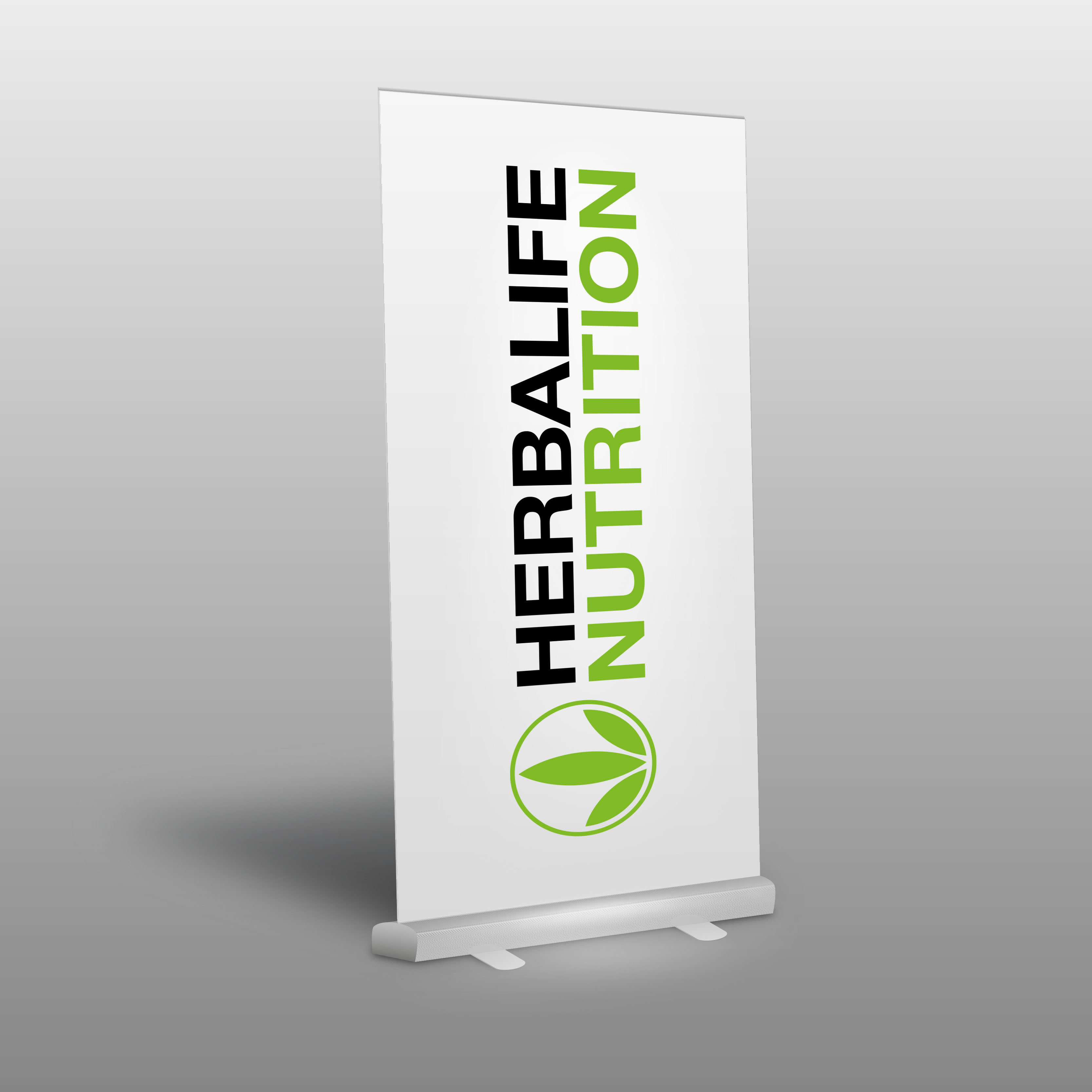 Roll-Up HERBALIFE NUTRITION LOGO WEISS