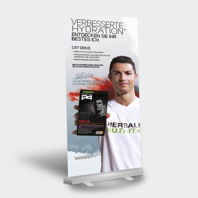 Roll-Up Aktion Ronaldo Variante 2